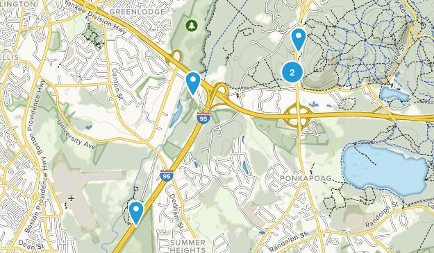 Canton, Massachusetts Hiking Map
