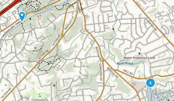 Chelmsford, Massachusetts Forest Map