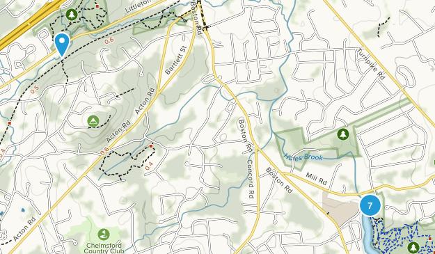 Chelmsford, Massachusetts Walking Map