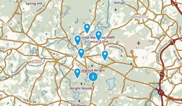 Concord, Massachusetts Nature Trips Map