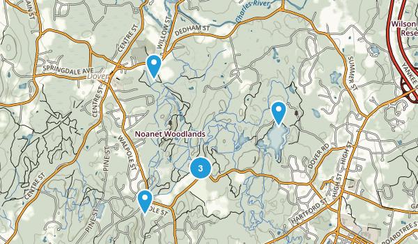 Dover, Massachusetts Lake Map