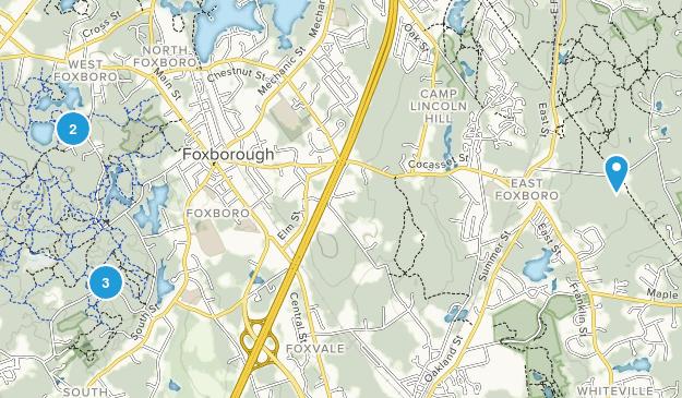 Foxboro, Massachusetts Hiking Map