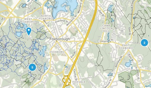 Foxborough, Massachusetts Nature Trips Map