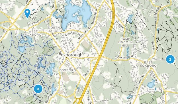 Foxborough, Massachusetts Trail Running Map