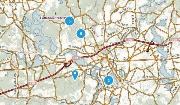 Framingham, Massachusetts Trail Running Map