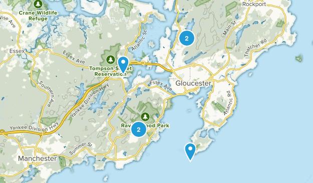 Gloucester, Massachusetts Trail Running Map