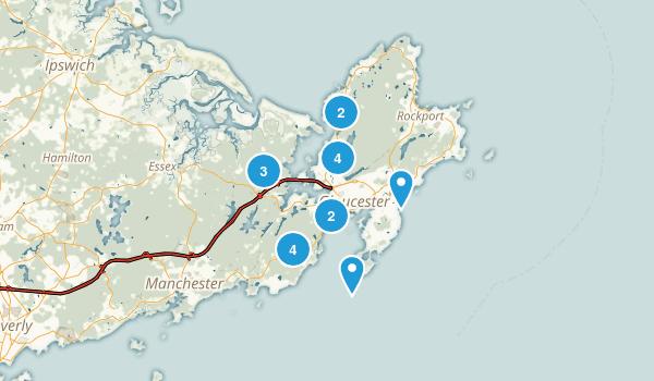 Gloucester, Massachusetts Walking Map