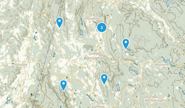 Great Barrington, Massachusetts Nature Trips Map