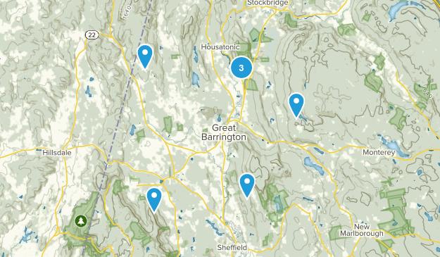 Great Barrington, Massachusetts Nature Trips Map