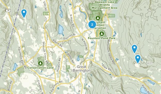 Great Barrington, Massachusetts Snowshoeing Map