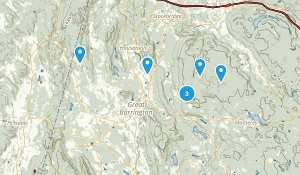 Great Barrington, Massachusetts Trail Running Map
