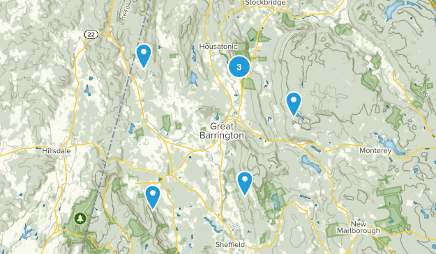 Great Barrington, Massachusetts Walking Map