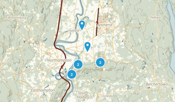 Hadley, Massachusetts Forest Map
