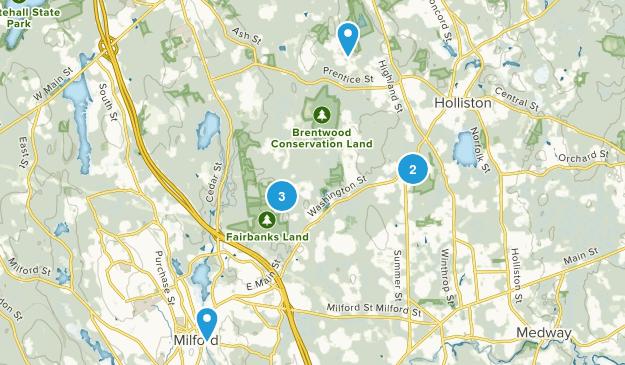Holliston, Massachusetts Hiking Map