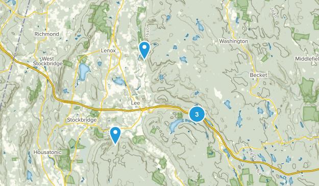 Lee, Massachusetts Forest Map