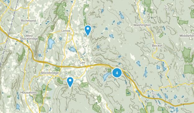 Lee, Massachusetts Hiking Map