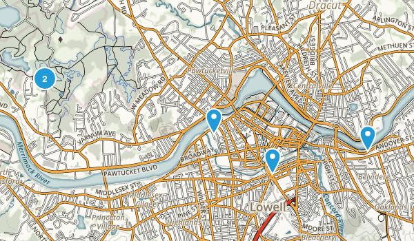 Lowell, Massachusetts Trail Running Map