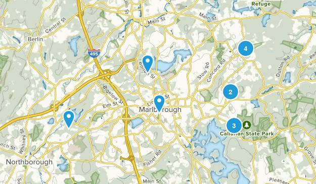 Marlborough, Massachusetts Hiking Map