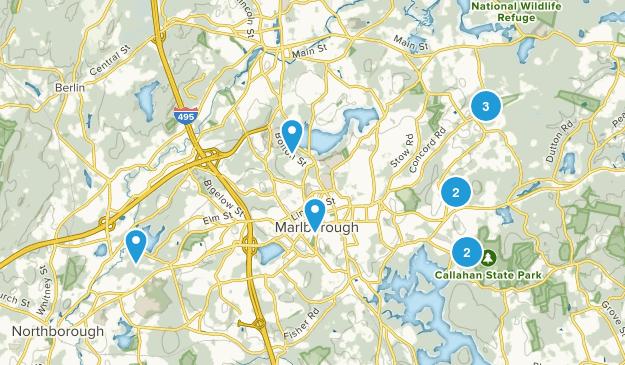 Marlborough, Massachusetts Nature Trips Map