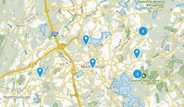 Marlborough, Massachusetts Walking Map