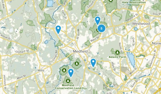 Medfield, Massachusetts Dog Friendly Map