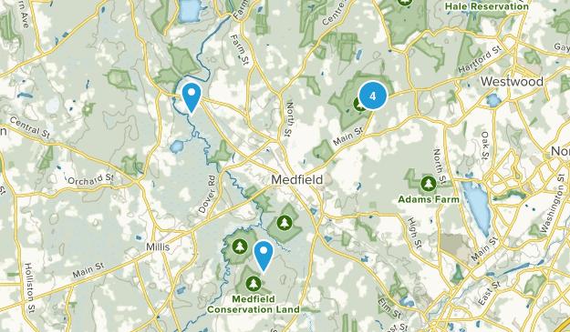 Medfield, Massachusetts Fishing Map