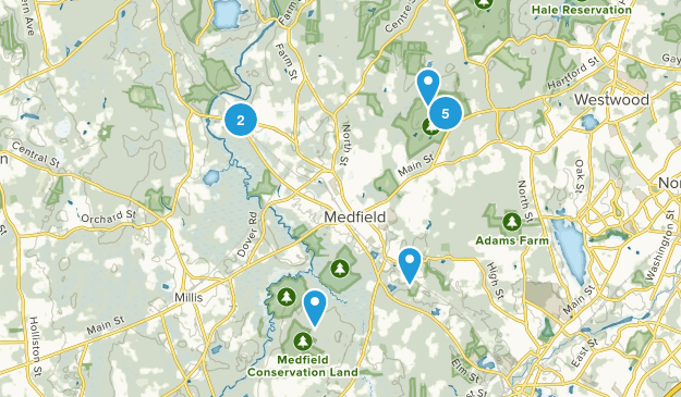 Medfield, Massachusetts Kid Friendly Map