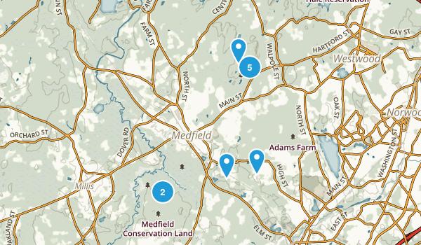 Medfield, Massachusetts Mountain Biking Map