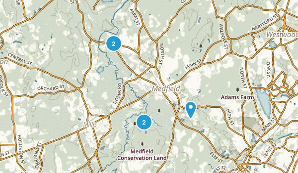 Medfield, Massachusetts River Map