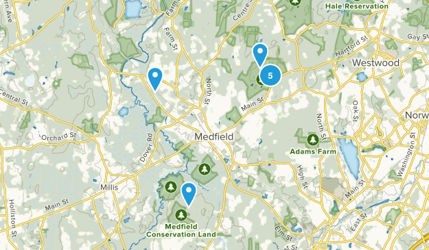 Medfield, Massachusetts Wildlife Map