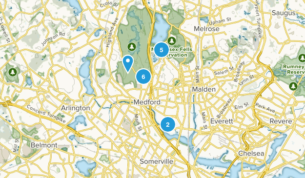 Medford, Massachusetts Birding Map