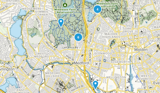 Medford, Massachusetts Forest Map
