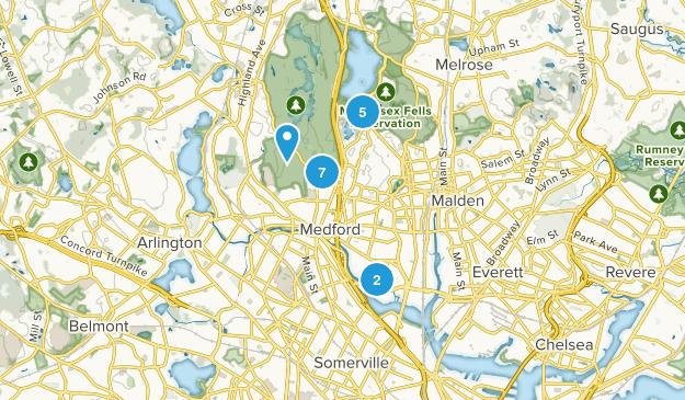 Medford, Massachusetts Views Map