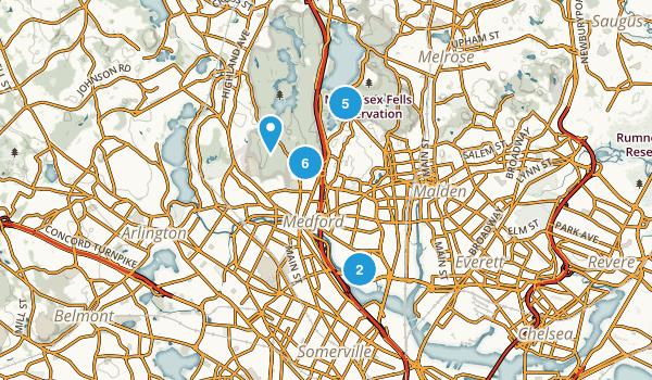 Medford, Massachusetts Walking Map