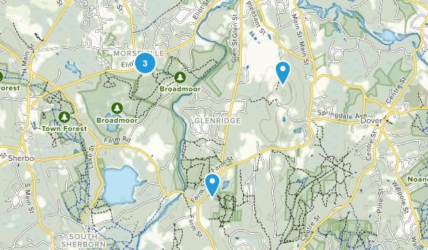Natick, Massachusetts Nature Trips Map