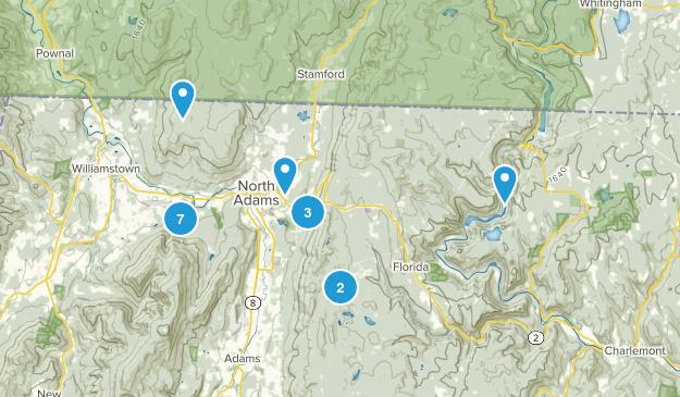 North Adams, Massachusetts Hiking Map