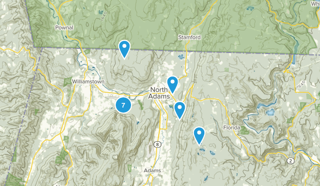 North Adams, Massachusetts Nature Trips Map