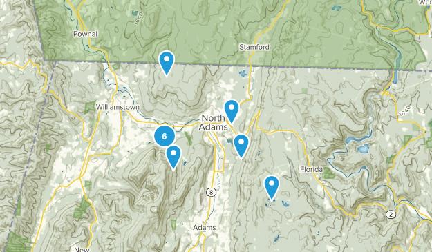 North Adams, Massachusetts Walking Map