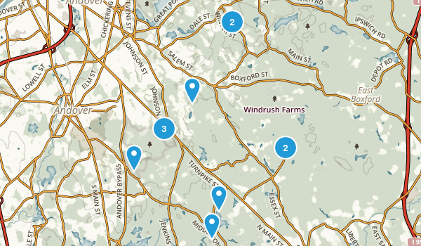 North Andover, Massachusetts Birding Map