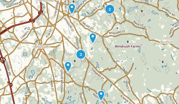 North Andover, Massachusetts Trail Running Map