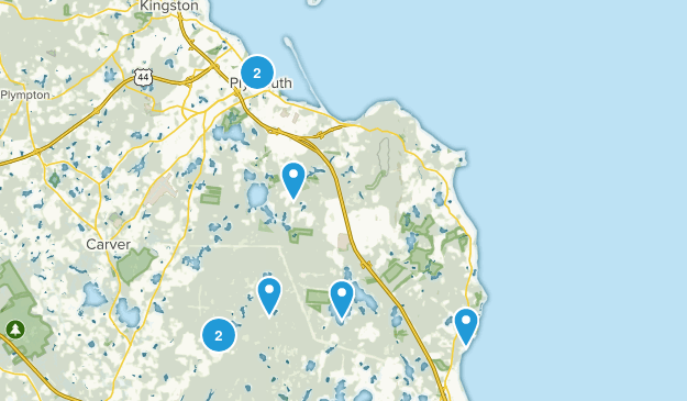 Plymouth, Massachusetts Dogs On Leash Map