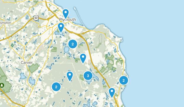 Plymouth, Massachusetts Trail Running Map