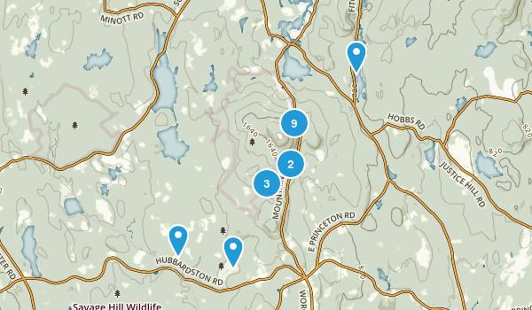 Princeton, Massachusetts Forest Map