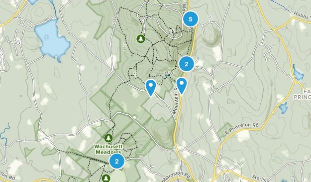 Princeton, Massachusetts Trail Running Map