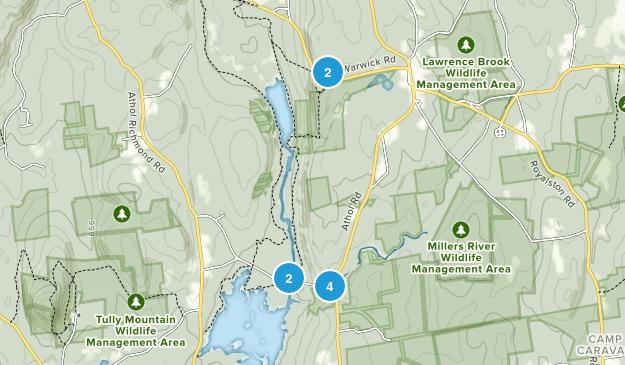 Royalston, Massachusetts Hiking Map