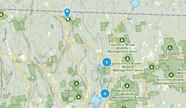 Royalston, Massachusetts Hiking Map