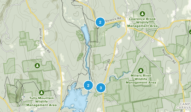 Royalston, Massachusetts Nature Trips Map