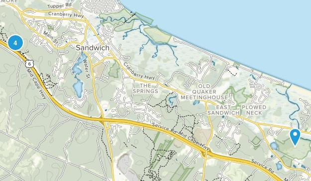 Sandwich, Massachusetts Hiking Map