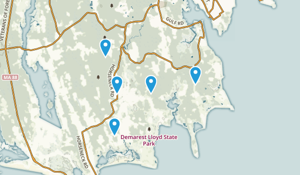 South Dartmouth, Massachusetts Trail Running Map