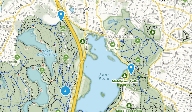 Stoneham, Massachusetts Walking Map